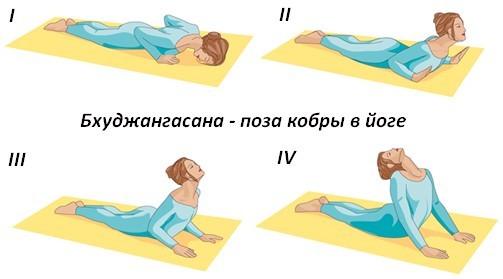 Техника выполнения бхуджангасаны