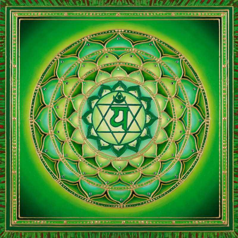 12-лепистковый лотос Анахата чакры