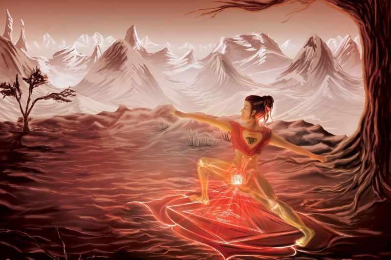Открытая первая чакра Муладхара