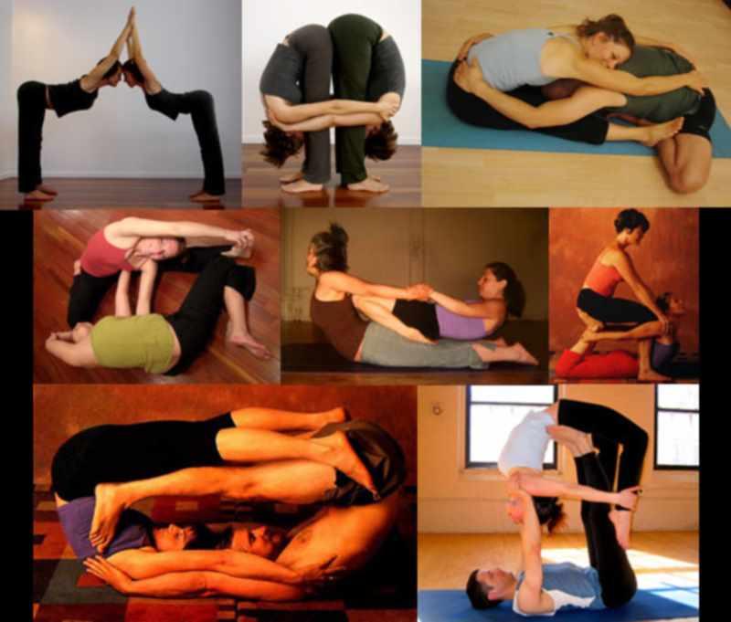 Пример упражнений с партнером