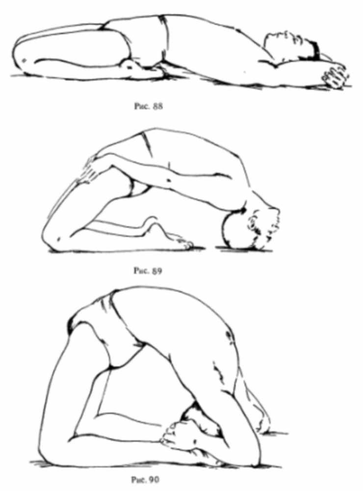Техника выполнения супт ваджрасана в рисункаха