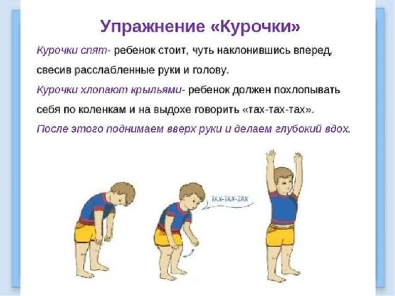 """Дыхательное упражнение для детей """"Курочки"""""""