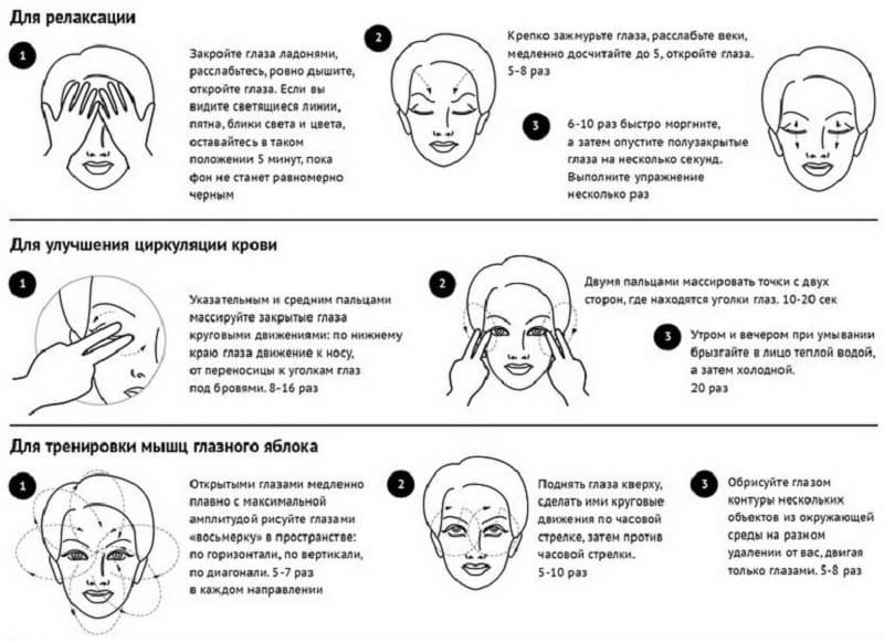 Простые упражнения для снятия усталости глаз