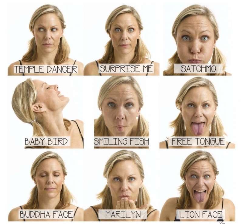 Позы йоги для мышц лица