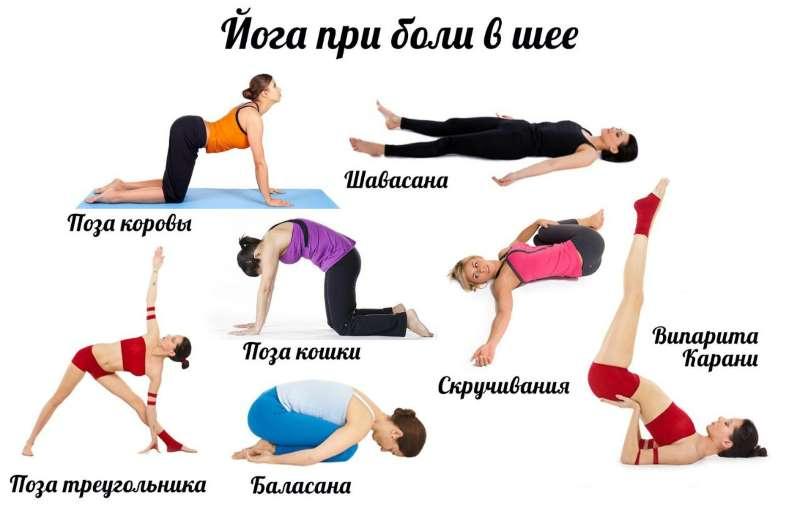 Упражнения йоги для шеи