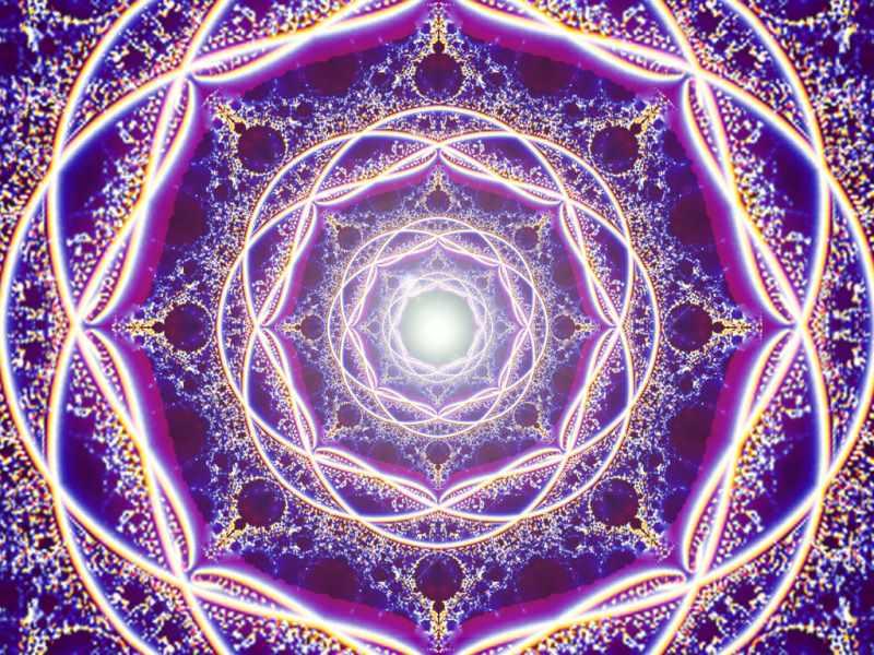 Фиолетовый поток седьмой чакры