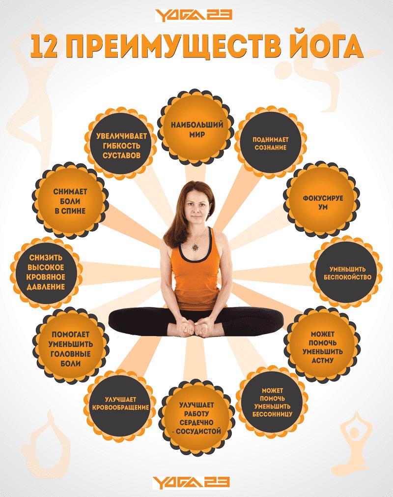 Двенадцать преимуществ йога