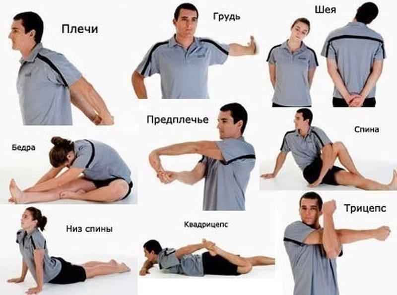 Пример разминки перед растяжкой плеч и рук