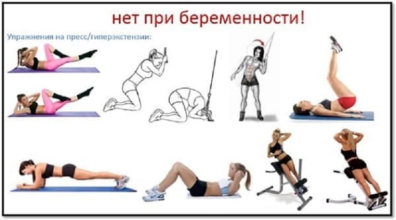 Запрещенные упражнения для беременных
