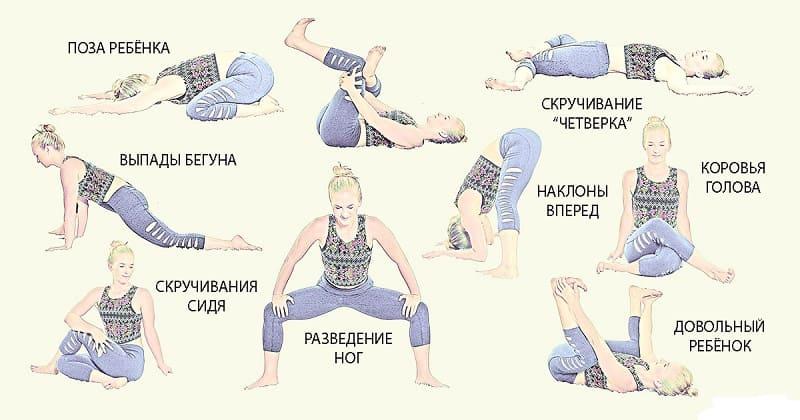 Комплекс упражнений для растяжки поясницы и спины