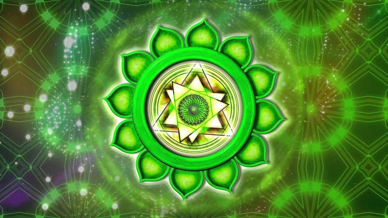 Символ четвертой женской чакры анахата